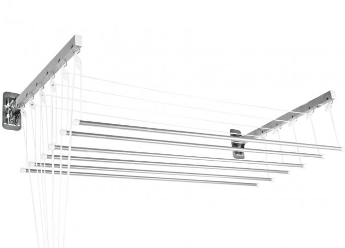 Varal Prático De Varetas Individuais Alumínio 1,20M Para Parede Ou Teto  - Secalux - Loja Portal