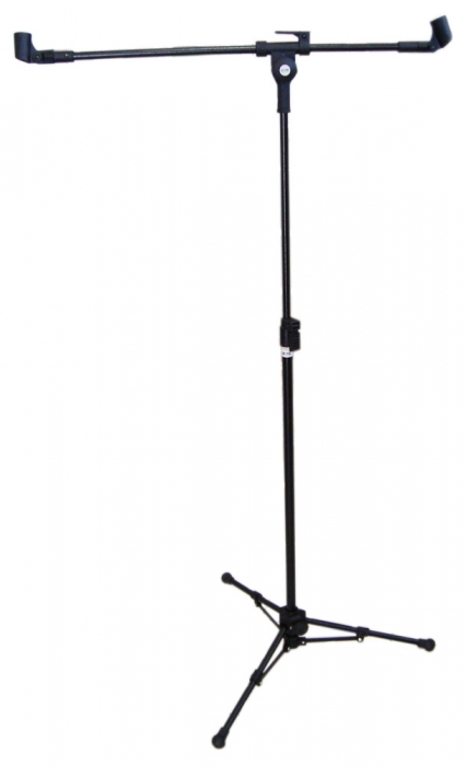 Pedestal com Cachimbos para 02 Microfones - Vector - Loja Portal