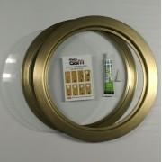 Kit escotilha bronze ma-05 com vidro e cola