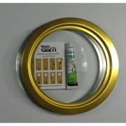 Kit escotilha dourada ma-05 com vidro e cola