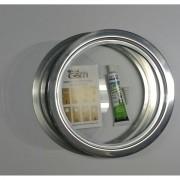 Ma-04/kit 26/31 cm escotilha polida+vidro+silicone