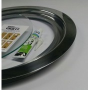 Ma-05/kit 35/42 cm escotilha polida+vidro+silicone