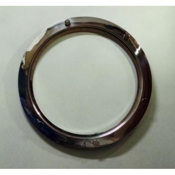 Escotilha ma-05 o par 35/42cm em alumínio polido com botões sem vidro