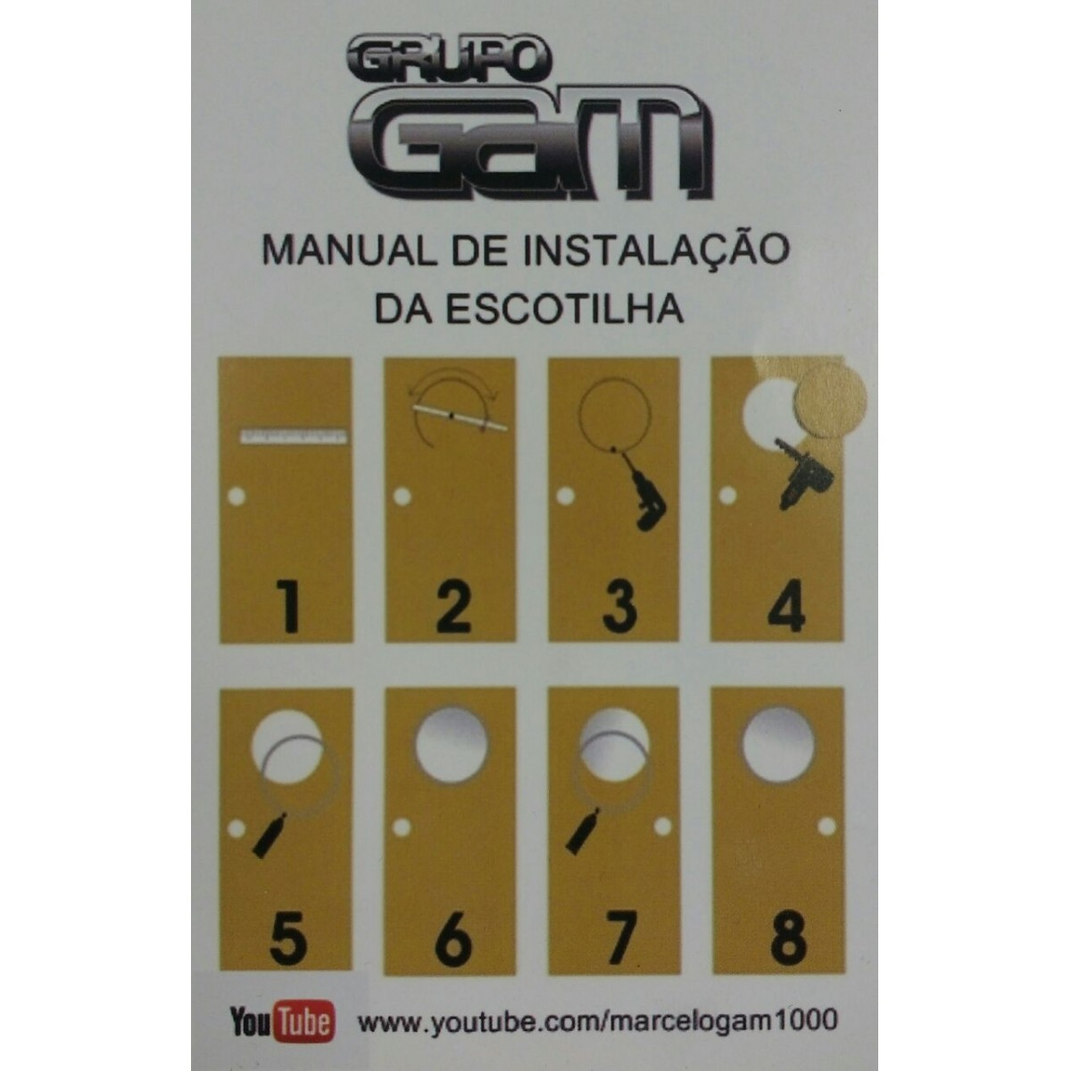 Kit escotilha bronze ma-05 com vidro e cola