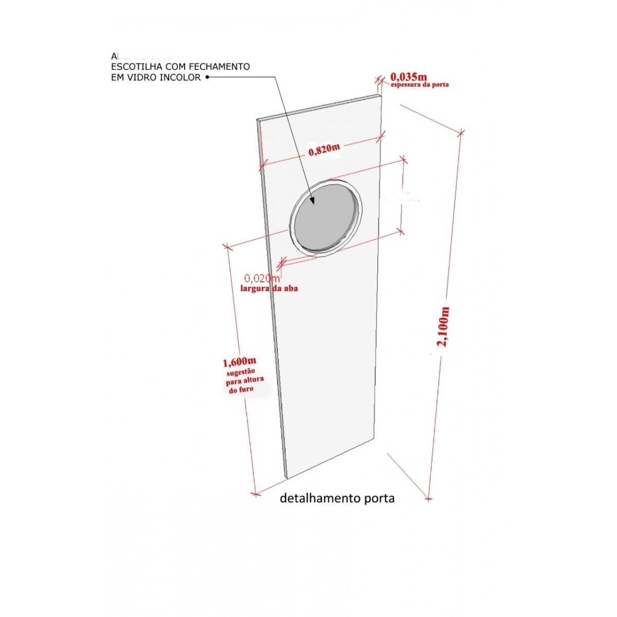 Kit escotilha ma-05 preta 35/42 cm com vidro e silicone