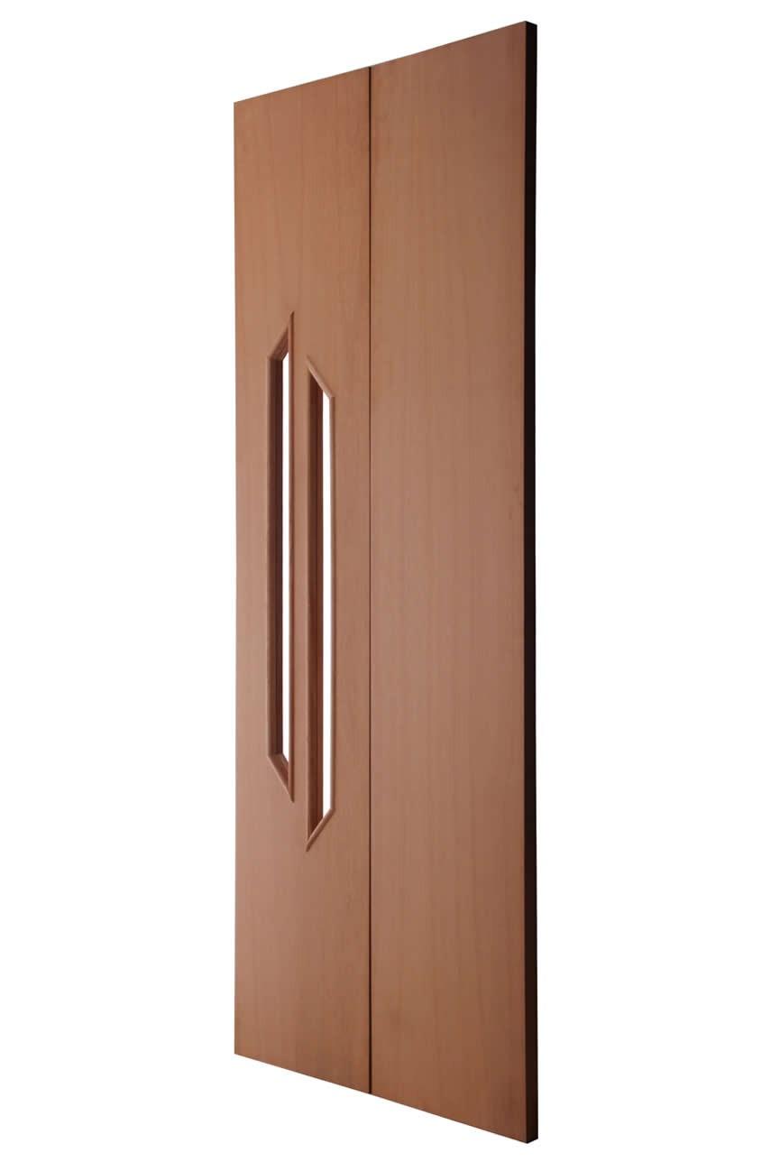 Porta Decorativa de Madeira Sólida - Rafim
