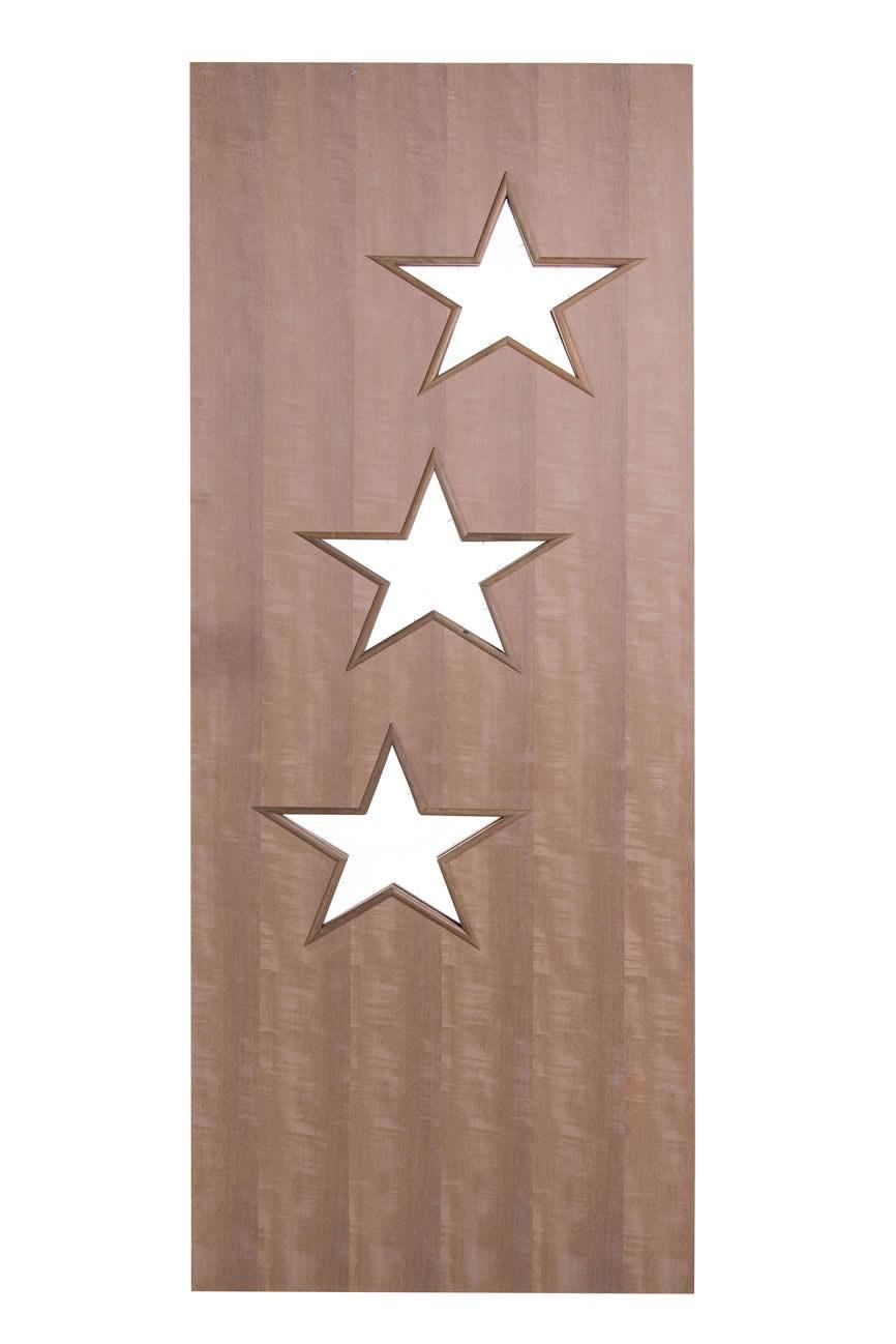 Porta Decorativa de Madeira Sólida - Ref: 108