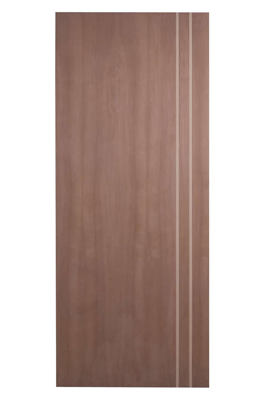 Porta Frisada de Madeira Sólida - Ref: F02D