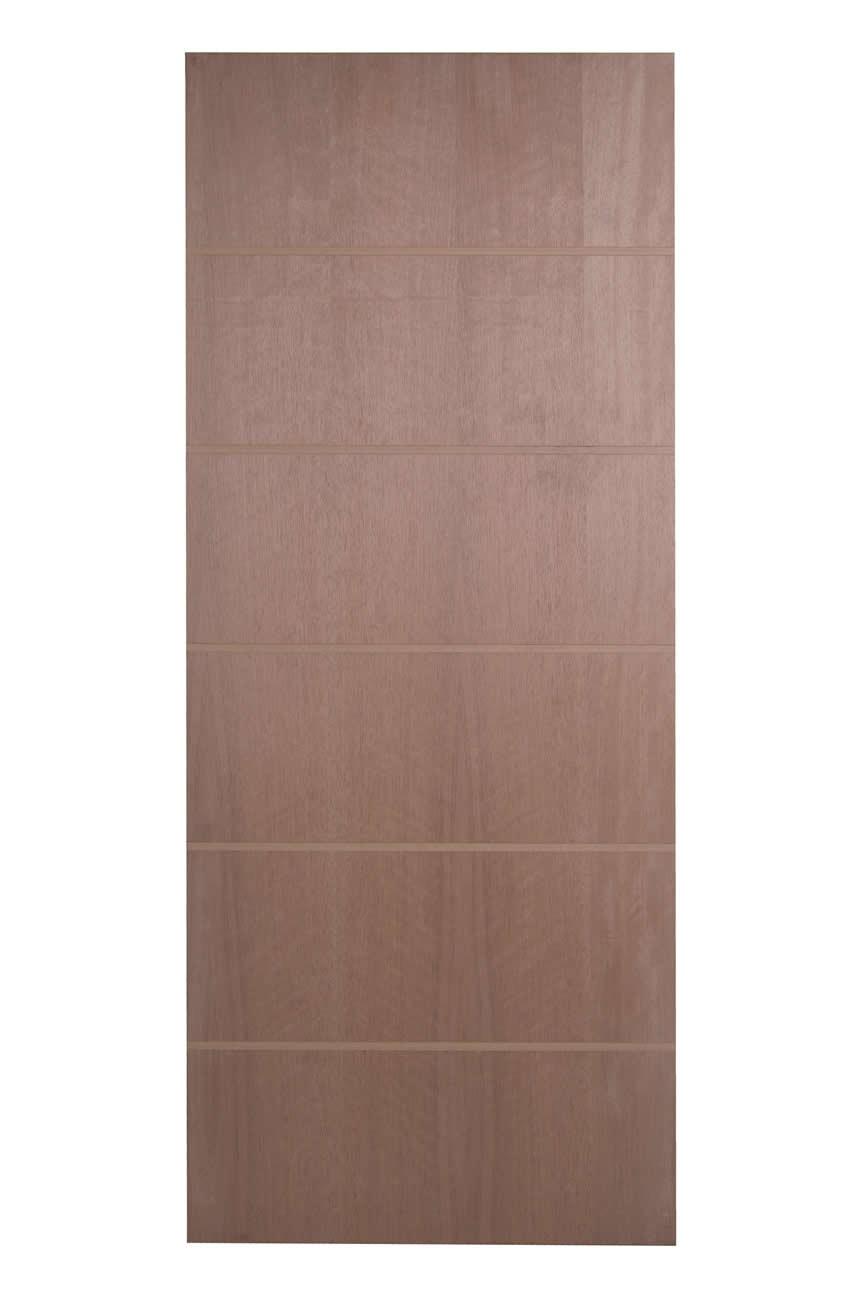 Porta Frisada de Madeira Sólida - Ref: F05D
