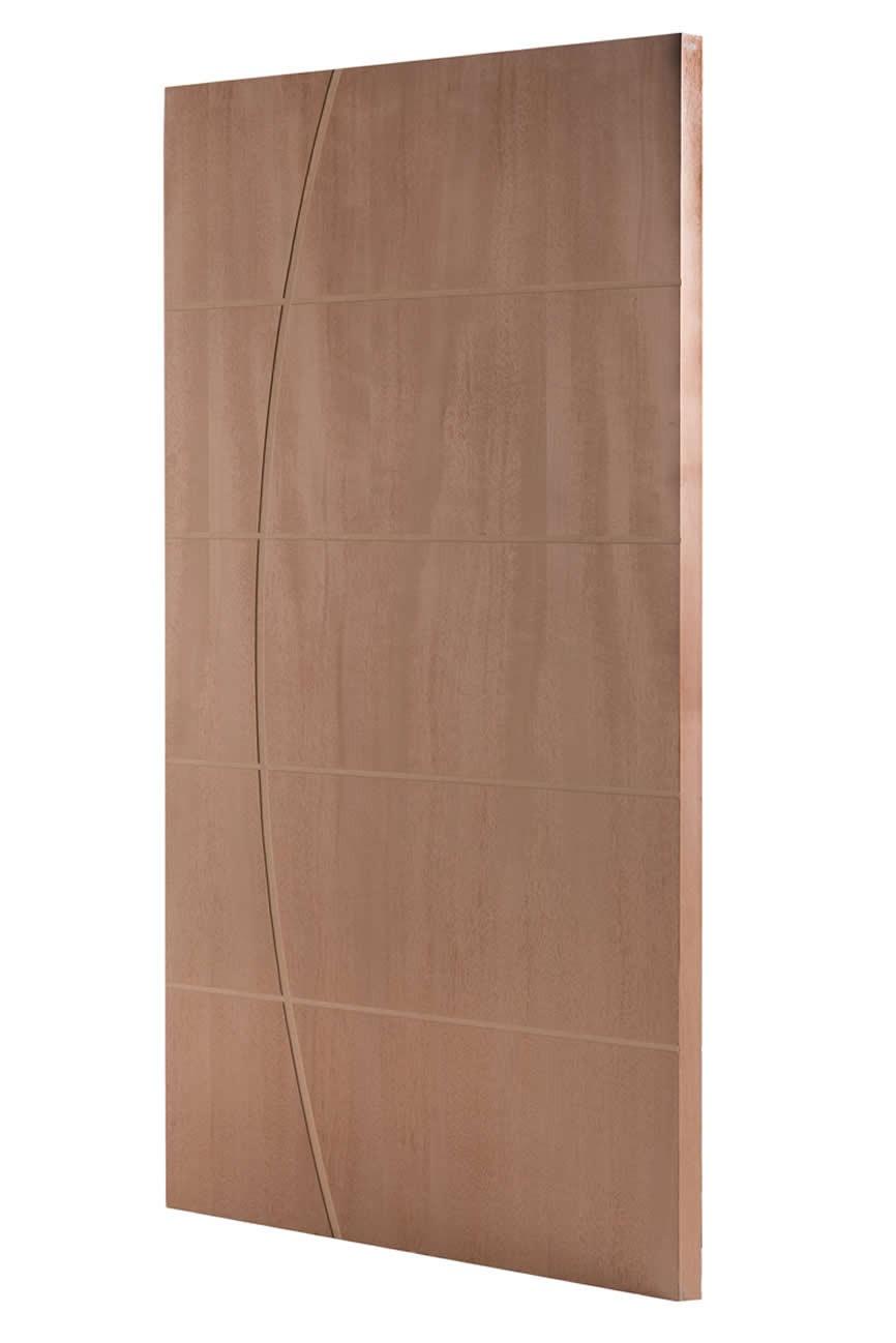 Porta Frisada de Madeira Sólida - Ref F11D