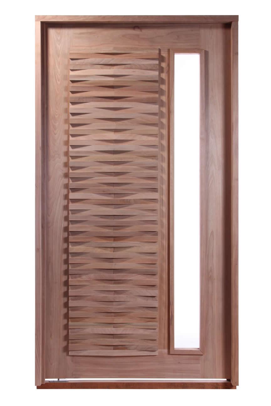 Porta Pivotante de Madeira Maciça - Becka