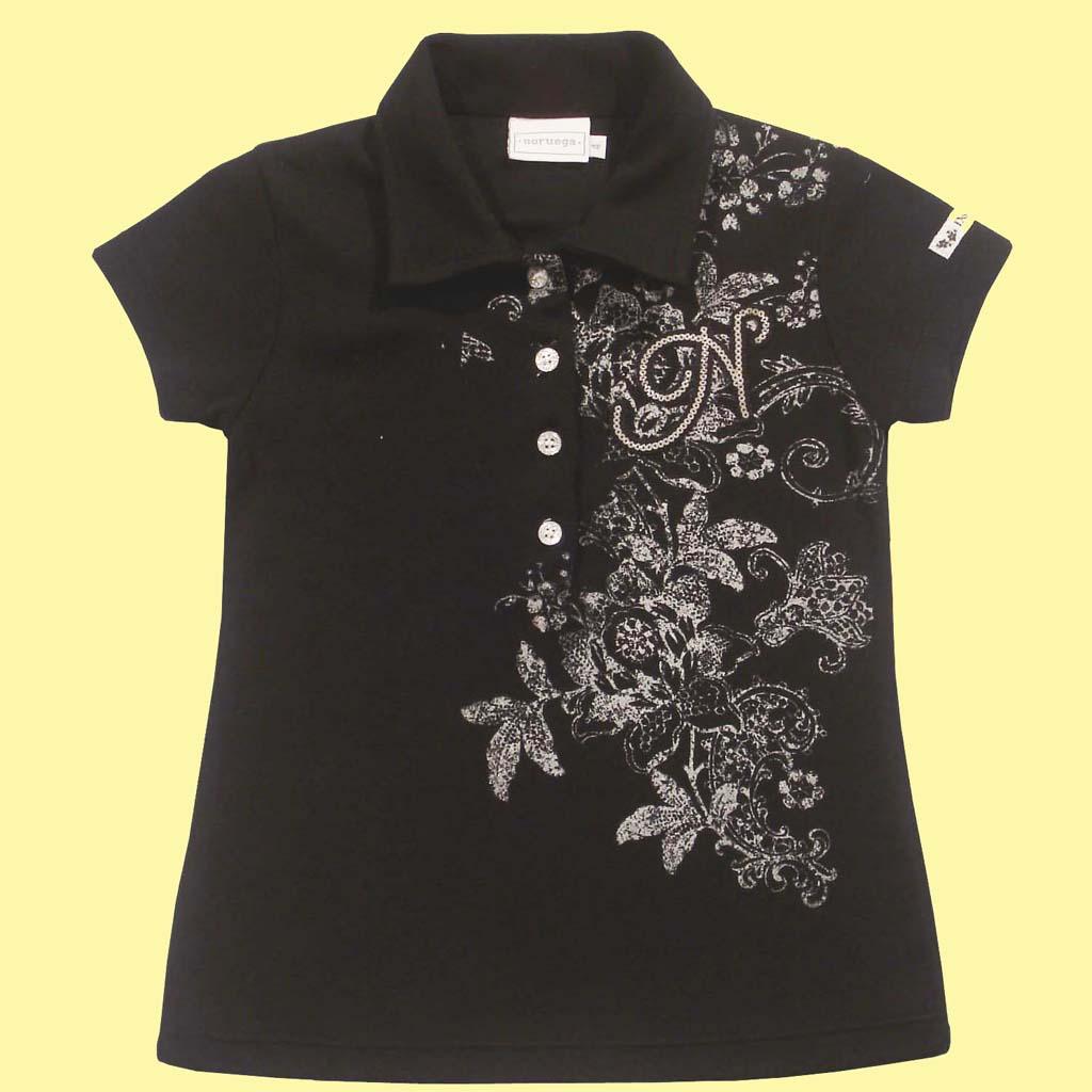 Camisa Polo Flores
