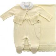 11.458 - Kit Maternidade Casaco Jacquard Bordado