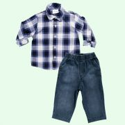Conjunto Camisa Xadrez
