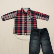 AE20.044 - Conjunto Body Camisa Xadrez