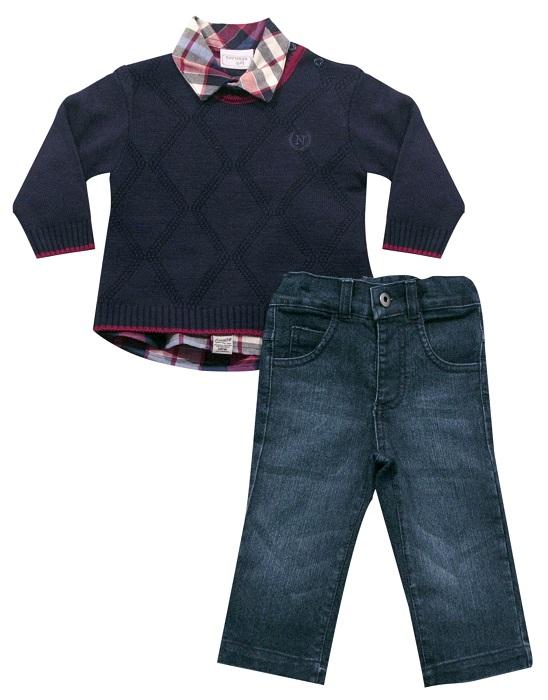 21.566 - Conjunto Sweater Gola Careca