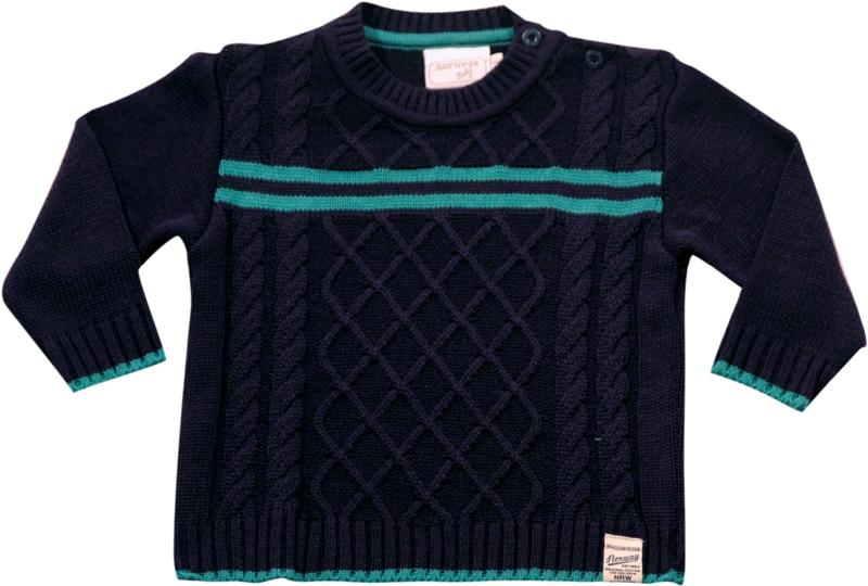 51.221 - Sweater  Tranças e Listras - Noruega