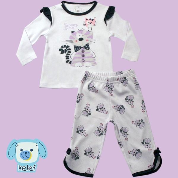 Conjunto Pijama Silk Gatinho