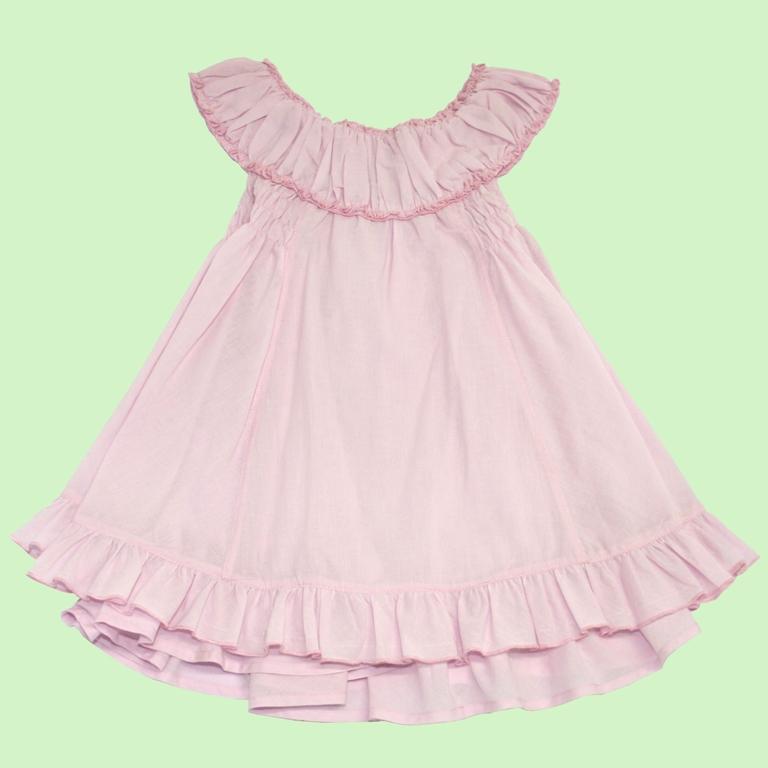 96.008A - Vestido Pala Franzida