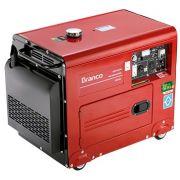 Gerador de Energia Branco BD 6500 ES 5 kva Silencioso