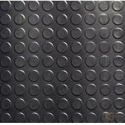12 placas Piso De Borracha Moeda pastilhado Placa 50x50cm / 3m²
