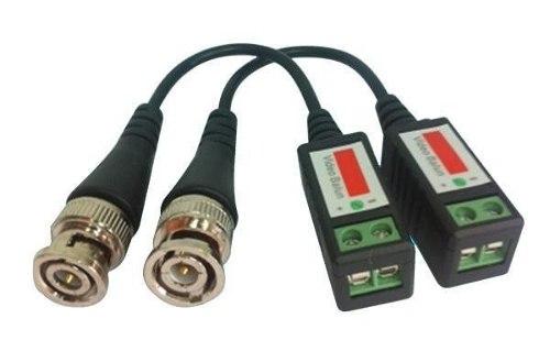 Conversor Par Trançado Video Balun Passivo Até 600mt P/ Cftv