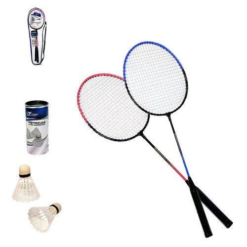 Badminton Kit Com 2 Raquetes 3 Peteca