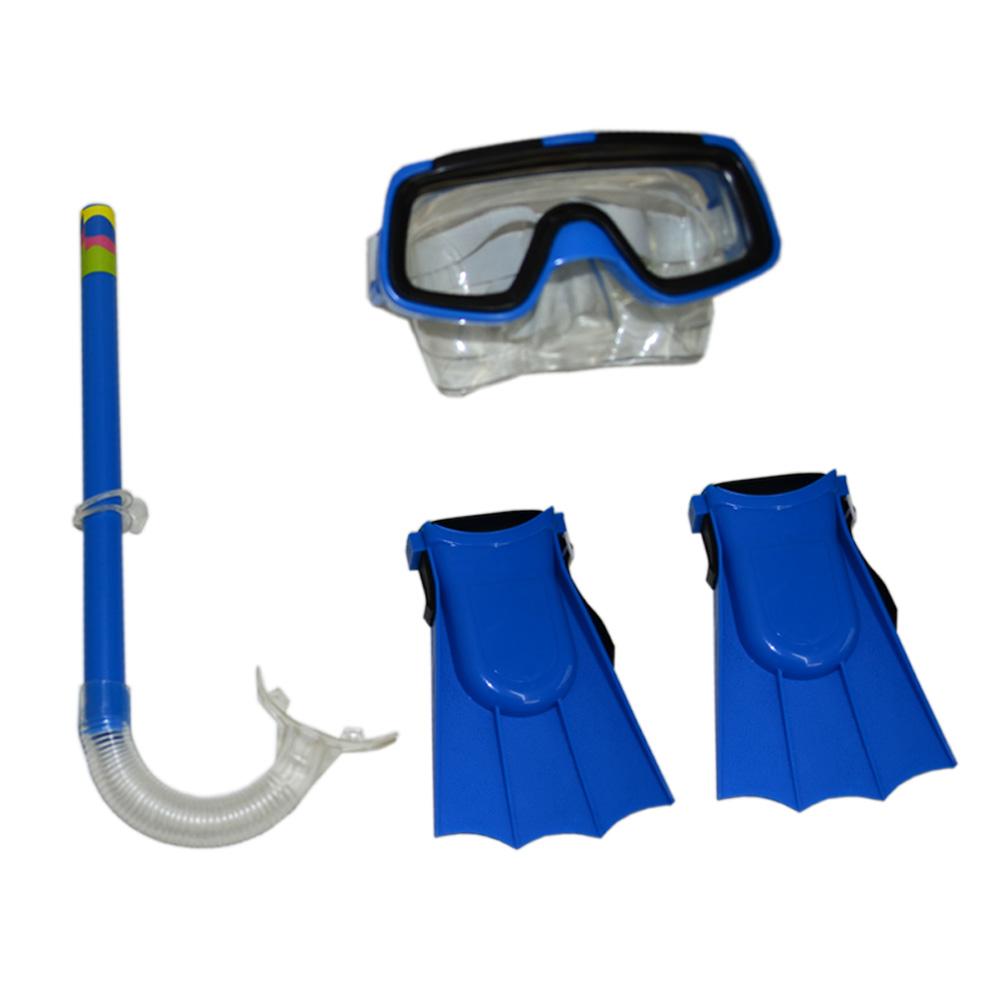Kit Mergulho Mascara Snorkel e Nadadeira