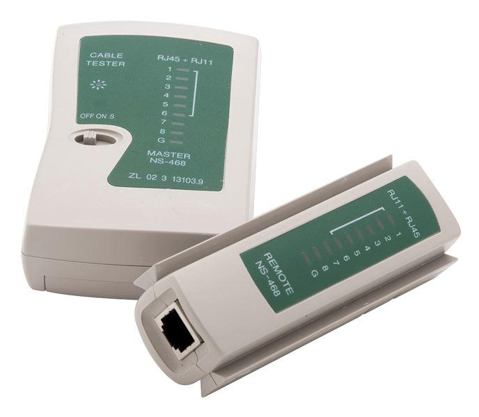 Testador de cabo de rede RJ45 e RJ11