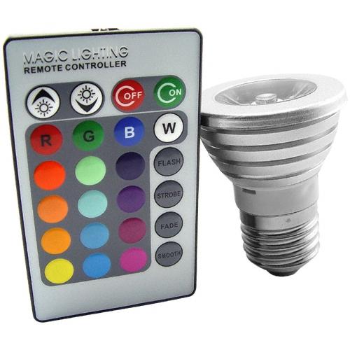 Luz LED Lampada Para Espeto de Jardim RGB 16 Cores com Controle