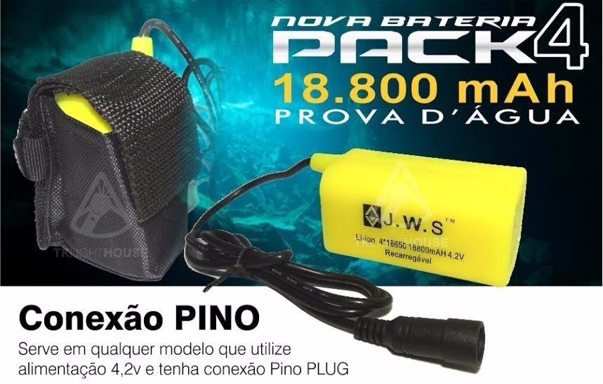Bateria Extra Farol Bike 4.2v 18.800 Mah Jws A Prova D'água