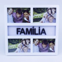 Porta Retrato Multiplo (4 Fotos 10x15cm) Família