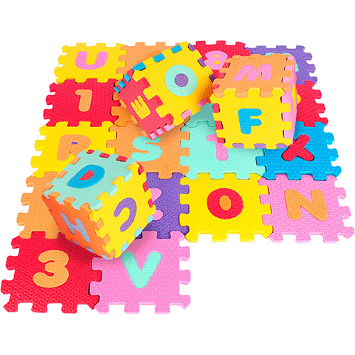 Tapete EVA 36 peças  7cm x 7cm
