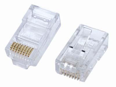 Plug RJ45 Rede CFTV 8 Vias Pacote com 50 Pcs