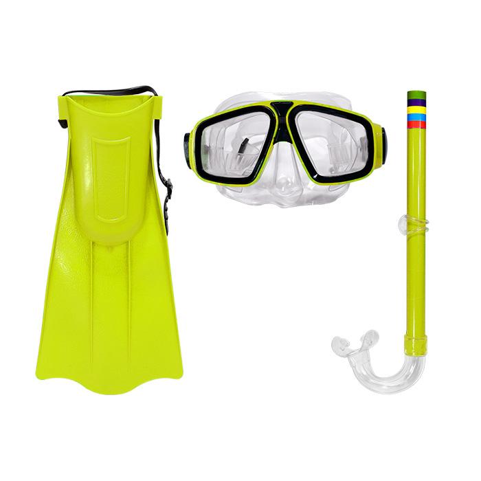 Kit Mergulho Infantil - Óculos Nadadeira e Respirador Snorkel