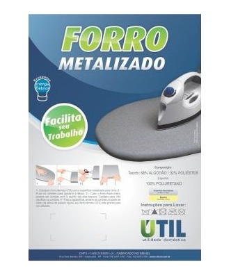 Forro Metalizado para Tabua de Passar Roupa