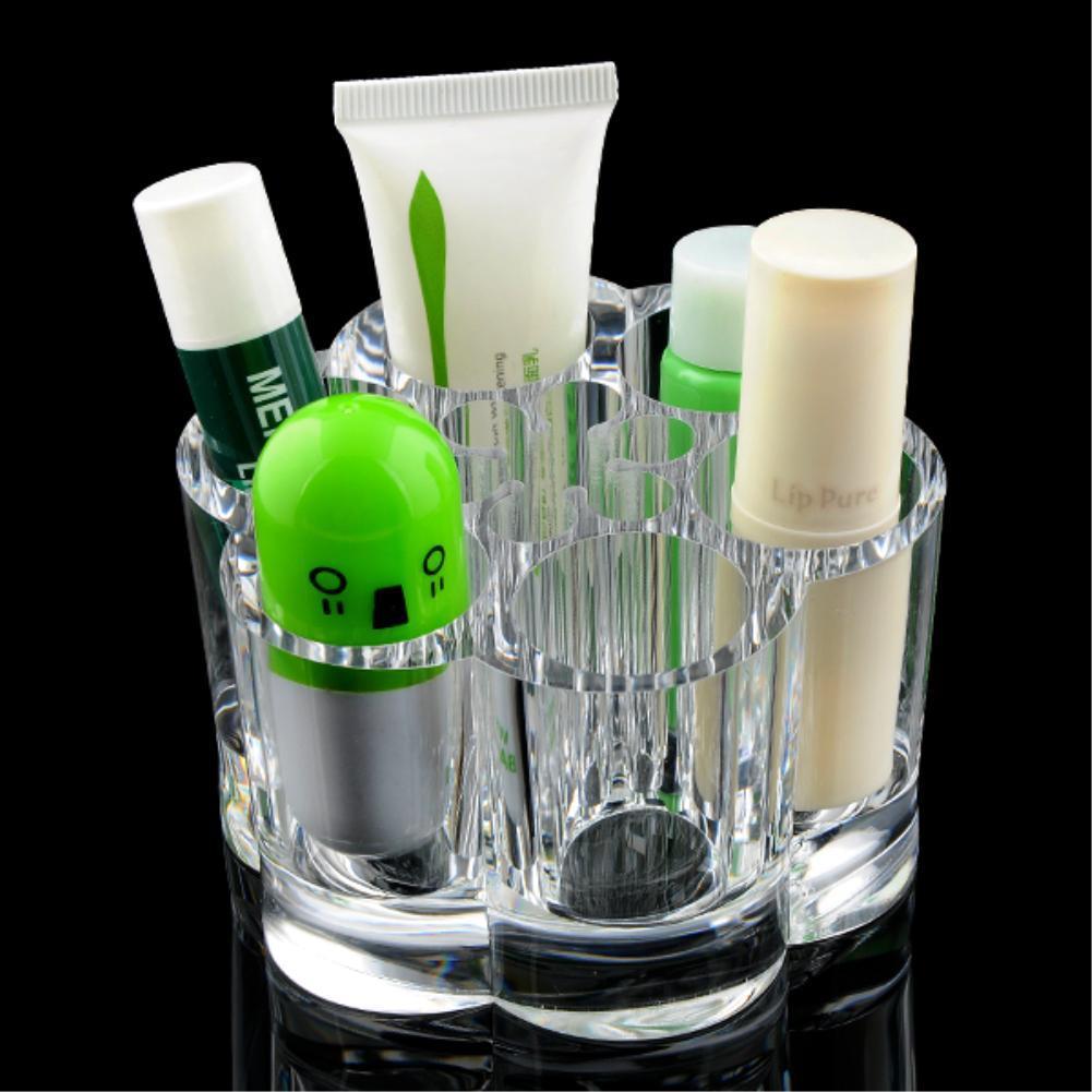 Mini Organizador Porta Maquiagem Batom Creme Pincel em Acrílico