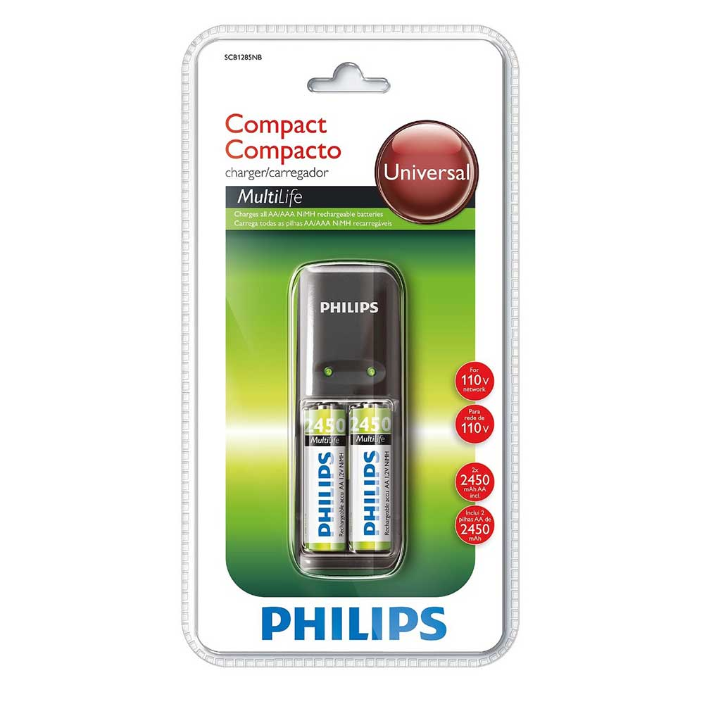 Carregador De Pilhas Philips Multilife Mini