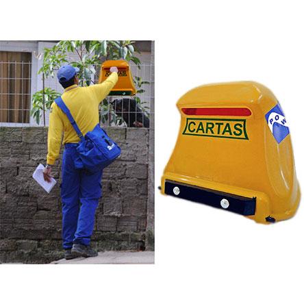 Caixa de Correio Power Plastico Grade Amarelo
