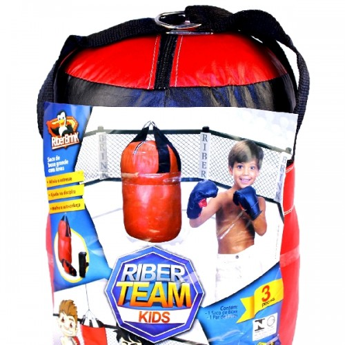 Saco Boxe Infantil  com Luva