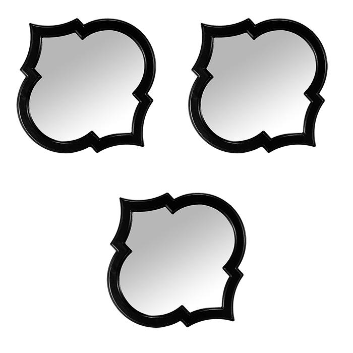 Quadro Decorativo com Espelho 3 Peças