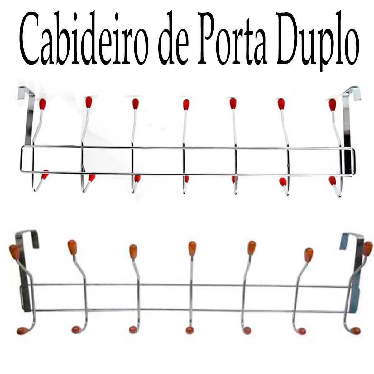Cabideiro Metal Para Porta com 14 Ganchos