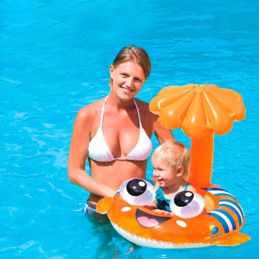 Boia Infantil Protetor Solar Peixe Palhaço
