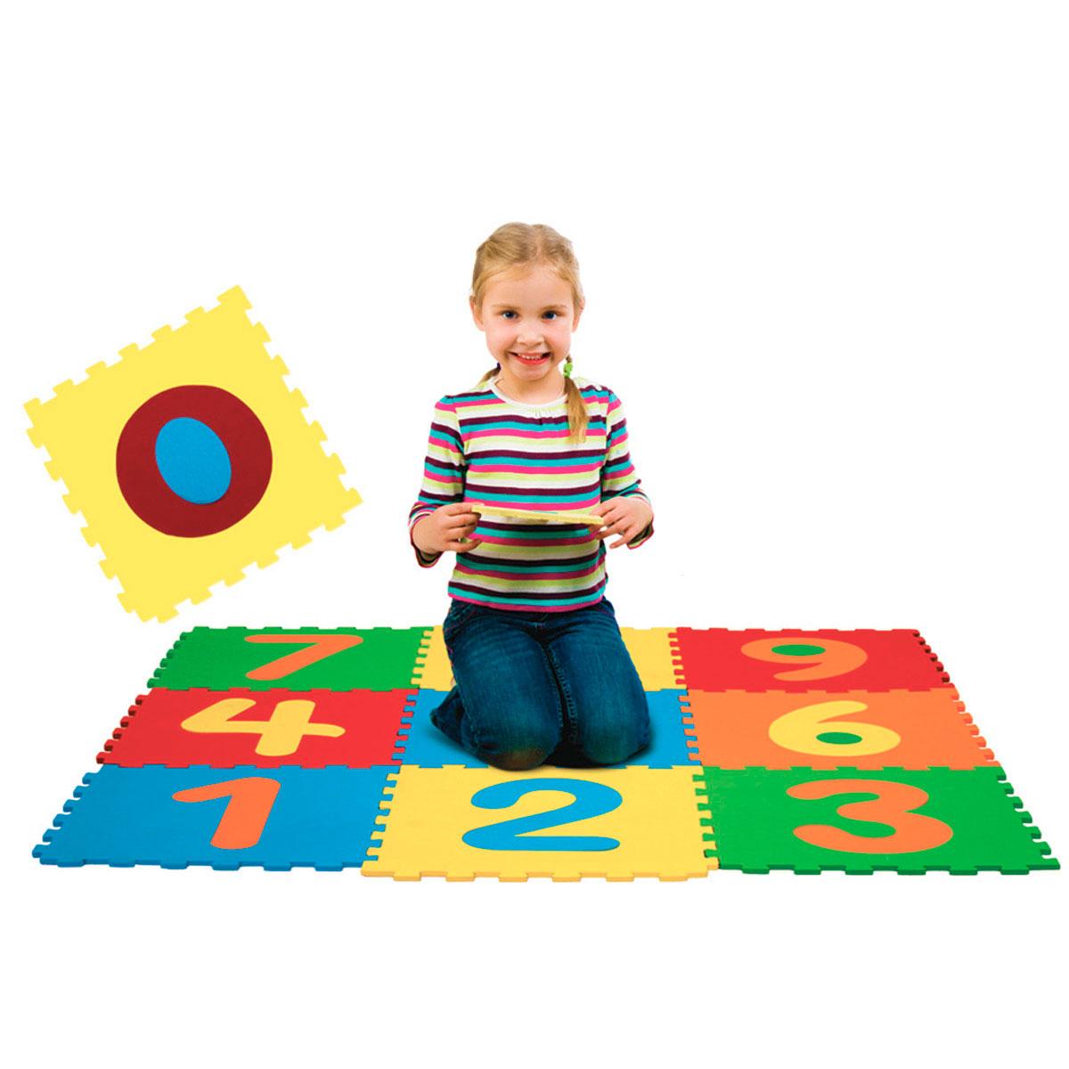 Tapete EVA Infantil Numérico 29x29cm 10 Peças