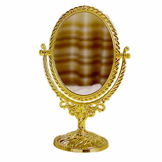 Espelho de Mesa Bancada 7 Pol Maquiagem Dupla Face c/ Aumento