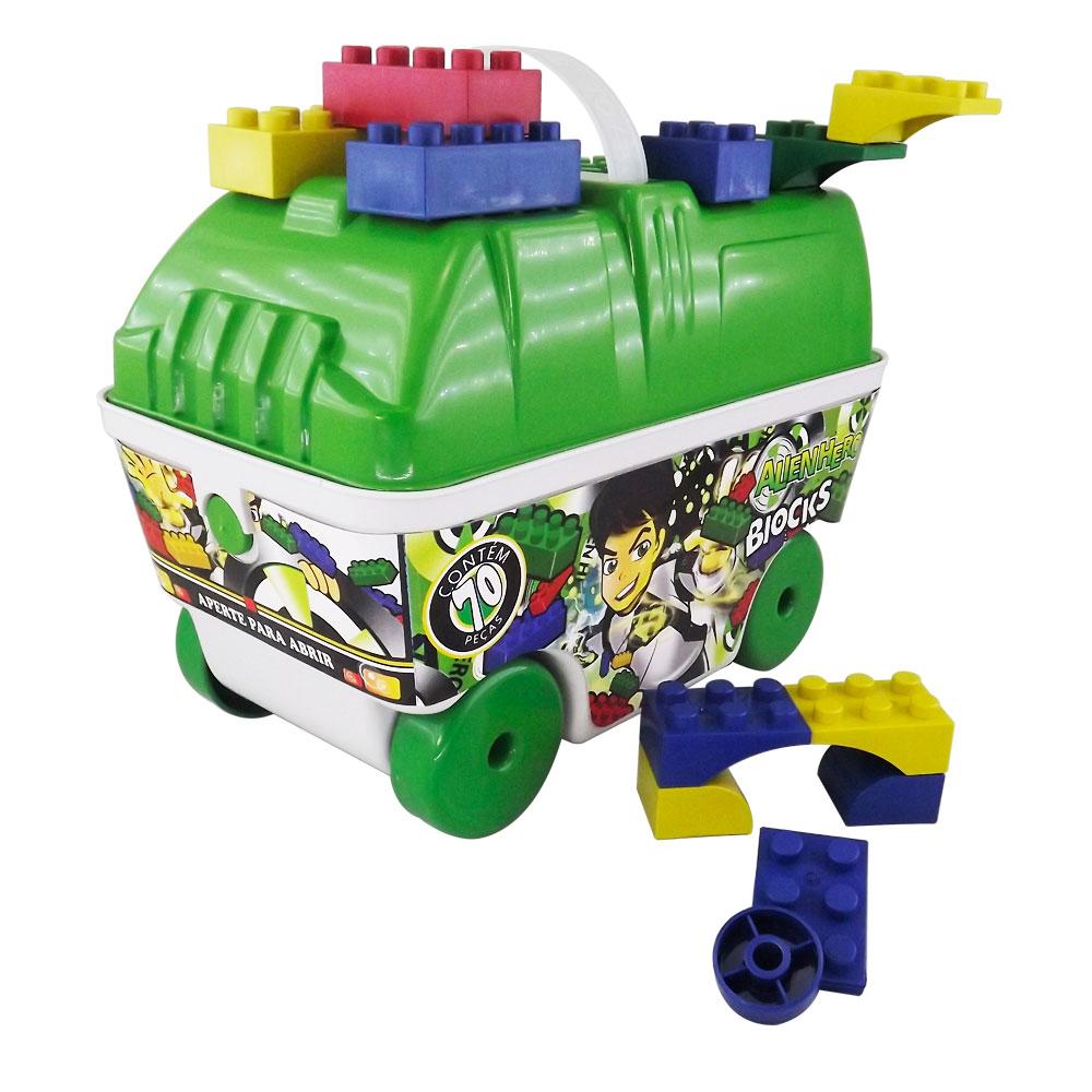 Brinquedo de Montar Alienhero Blocks 70 Peças