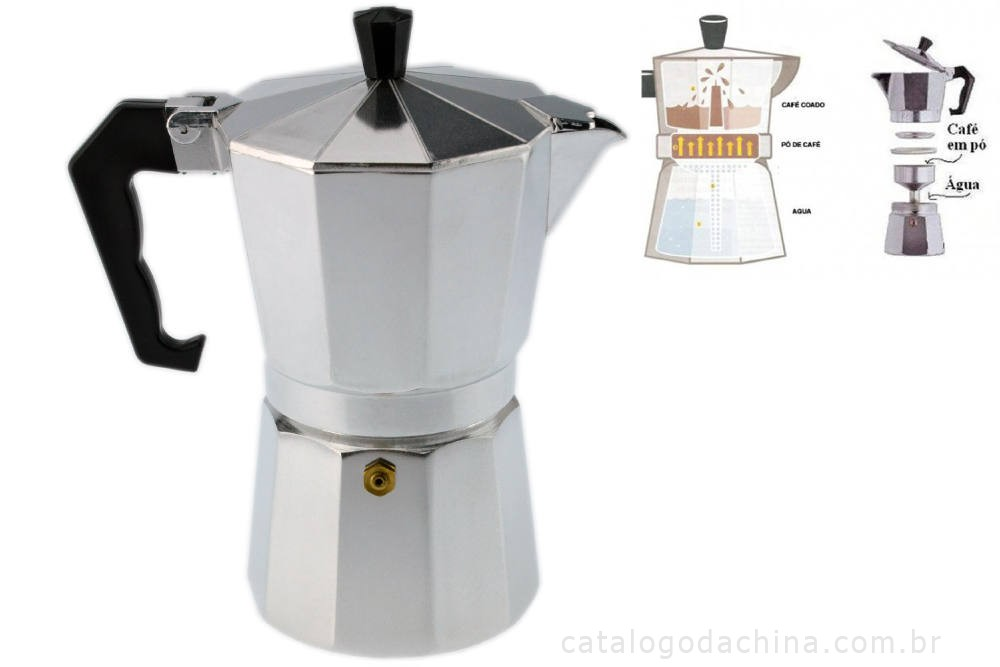 Cafeteira Italiana Alumínio para 12 Xícaras
