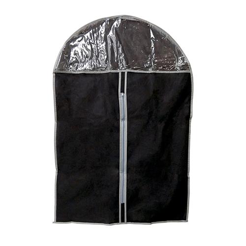 Capa Porta Terno com Ziper 100% Polietileno e PVC - Preto