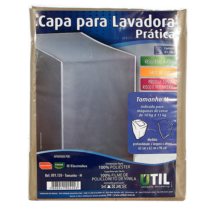 Capa para Lavadora e Secadora de Roupas Tamanho P