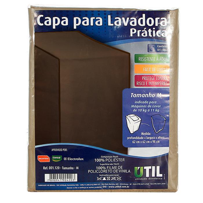 Capa para Lavadora e Secadora de Roupas Tamanho M - Marrom